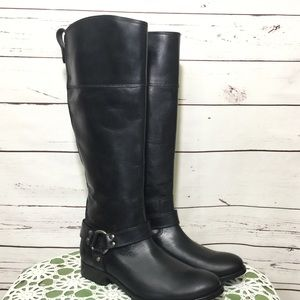 NWOB Frye Melissa Harnessed Black Leather Boots